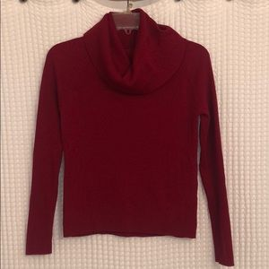 Ann Taylor Red Turtleneck Sweater